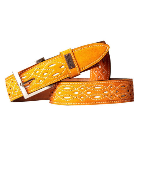 The Spanish Boot Company Belts Spanish Suede Belt: Orange