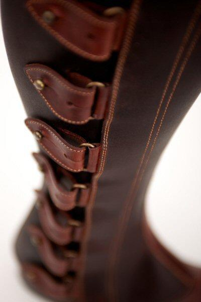 The Spanish Boot Company Half chaps Mens Made to Measure: Polainas/Half Chaps: black or brown