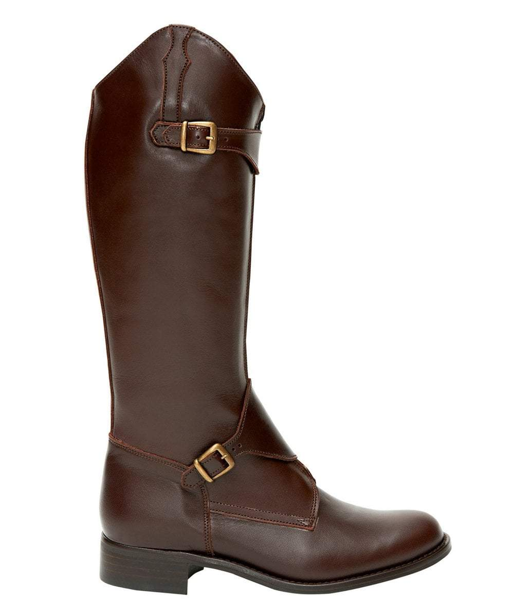 9b149500931 The Spanish Boot Company Leather boots Childrens Leather Polo Riding Boots:  brown