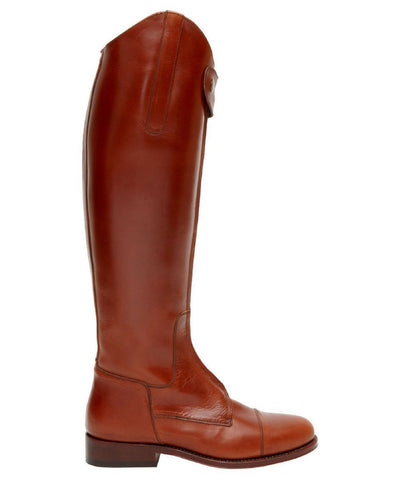 Spanish Riding Boots classic: Camel SUEDE (leather sole) WIDE CALF FIT