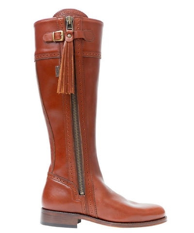 Spanish Riding Boots tall: Brown (flat sole)