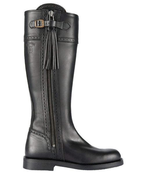 The Spanish Boot Company Leather boots Spanish Riding Boots classic: Black (flat sole)