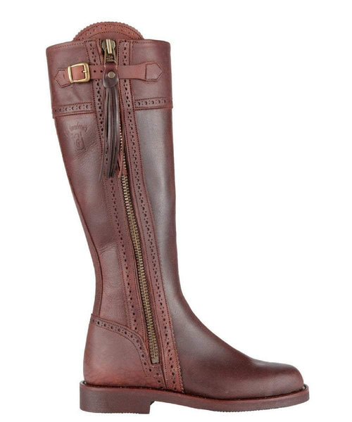 The Spanish Boot Company Leather boots Spanish Riding Boots classic: Brown (flat sole)