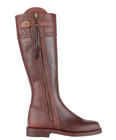 Spanish Riding Boots classic: chocolate brown (leather sole)