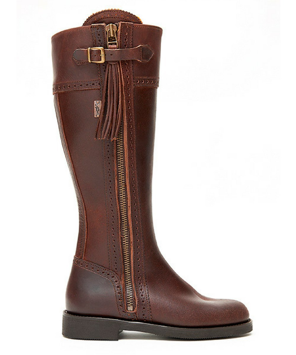 The Spanish Boot Company Leather boots Spanish Riding Boots classic: Brown (flat sole) WIDE FIT