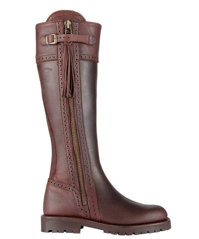 Spanish Riding Boots classic: Brown (flat sole) WIDE CALF FIT