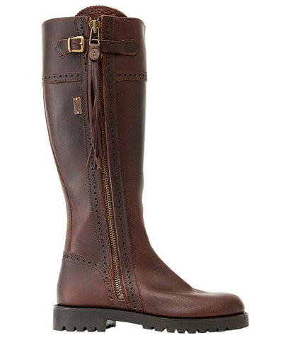Spanish Riding Boots classic: Tan (leather sole) WIDE FIT