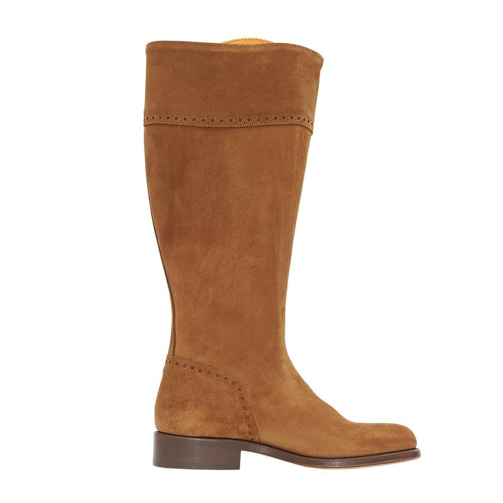 The Spanish Boot Company Leather boots Spanish Riding Boots  Camel SUEDE (leather sole) WIDE FIT