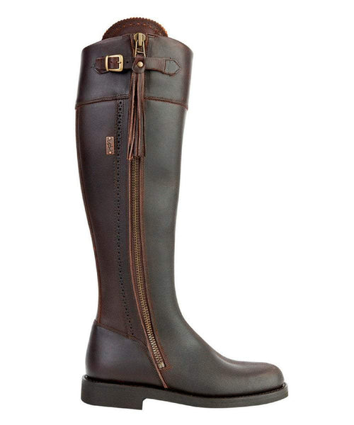 The Spanish Boot Company Leather boots Spanish Riding Boots tall: Brown (flat sole)