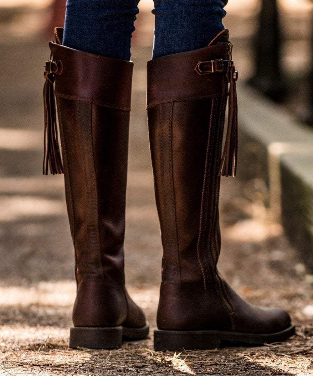 tall brown thigh boots