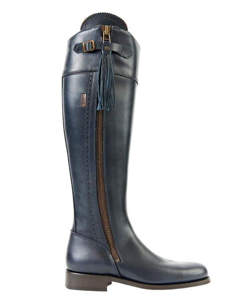 The Spanish Boot Company Leather boots Spanish Riding Boots tall: Navy (leather sole)