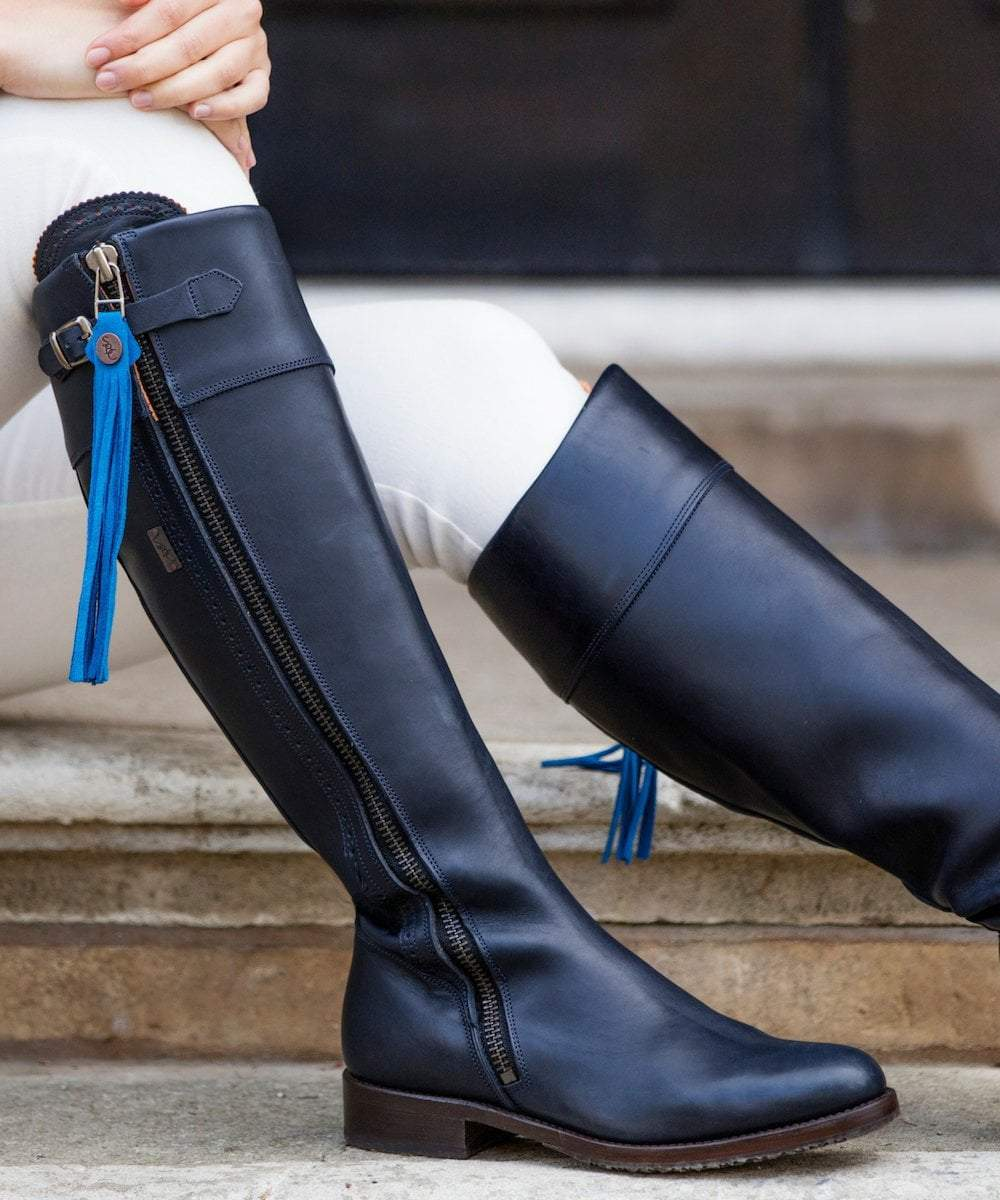 Navy Boots | Spanish Riding Boots | The