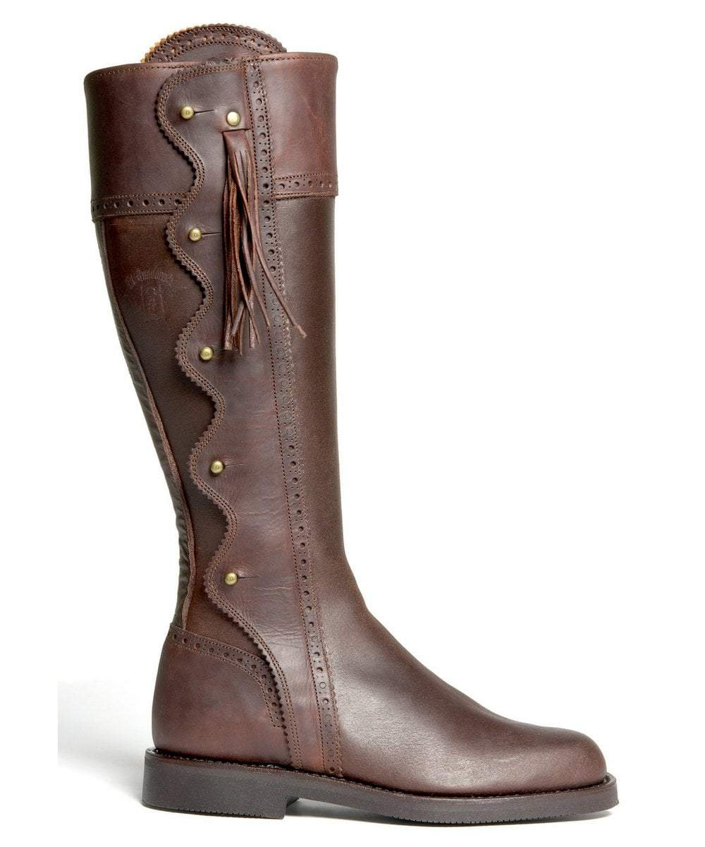 The Spanish Boot Company Leather boots Spanish Riding Boots wave: Brown (flat sole)