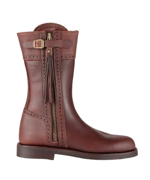 The Spanish Boot Company Leather boots Spanish Yard Boots: Brown (flat sole)