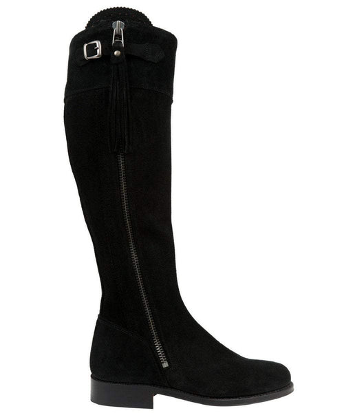 The Spanish Boot Company Suede boots Spanish Riding Boots suede: Black (leather sole)