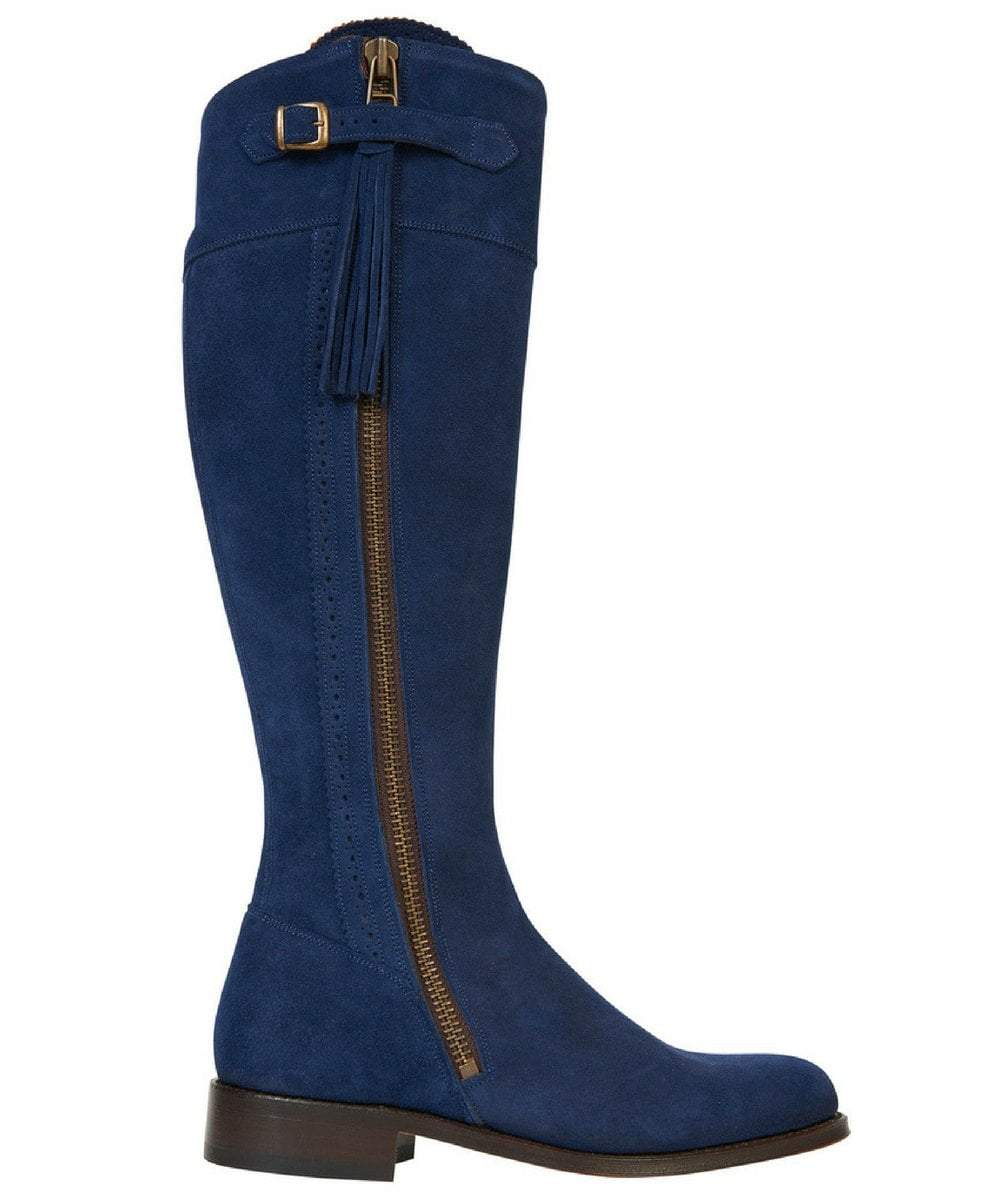 Spanish Riding Boots suede: Navy