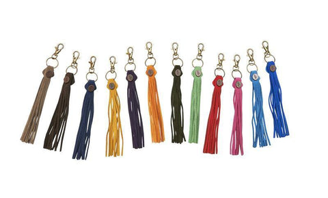 Tassels - navy leather