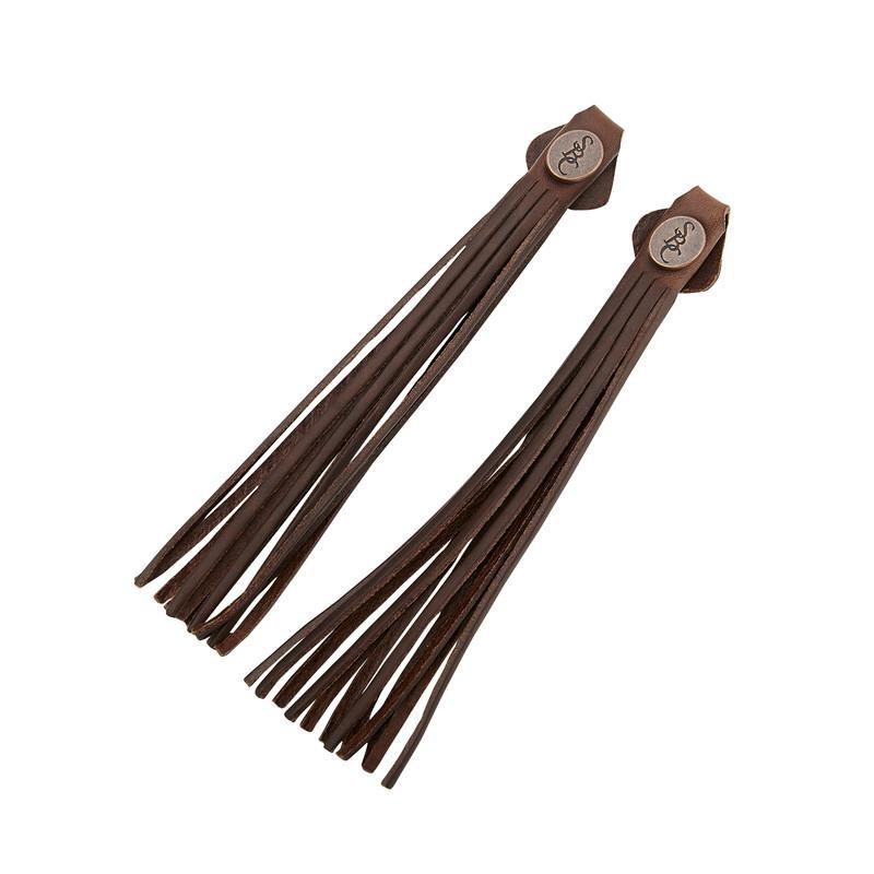 Tassels - brown leather
