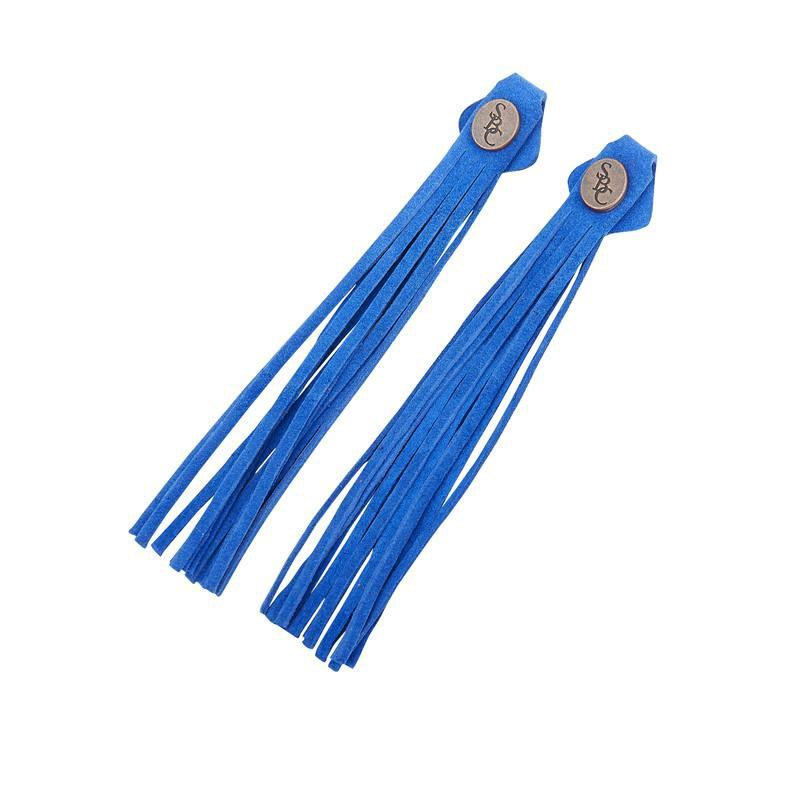 The Spanish Boot Company tassels Tassels - cobalt suede