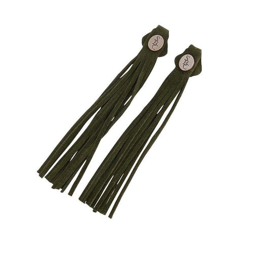 The Spanish Boot Company tassels Tassels - green suede