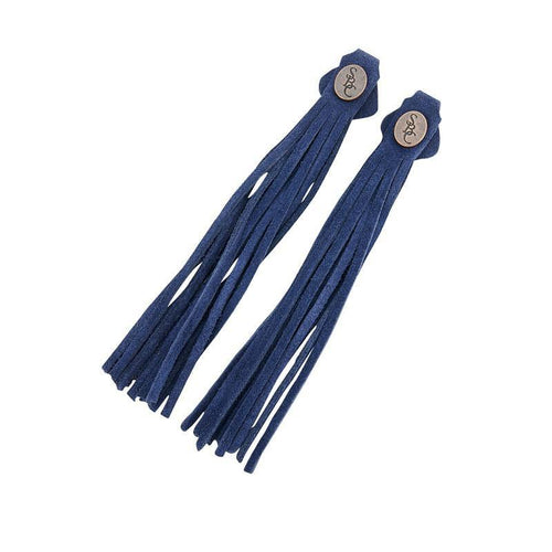 The Spanish Boot Company tassels Tassels - navy suede