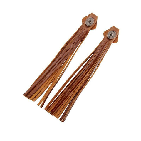 Tassels - brown suede