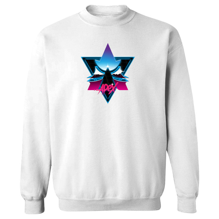 Apex Chrome Crewneck - Wht