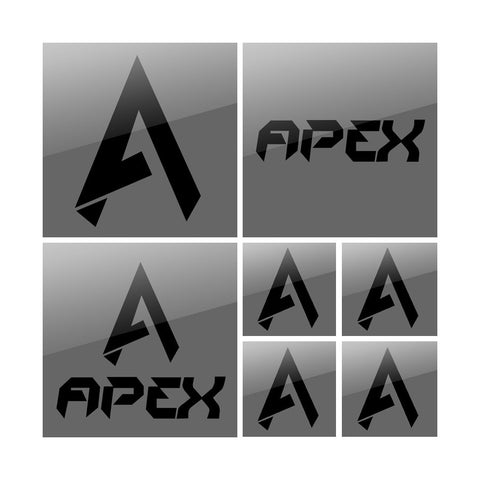 Apex Vinyl Sticker Pack - Black