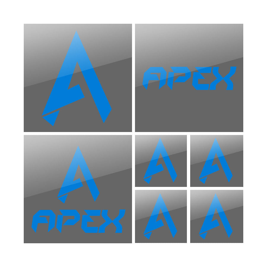 Apex Vinyl Sticker Pack - Blue