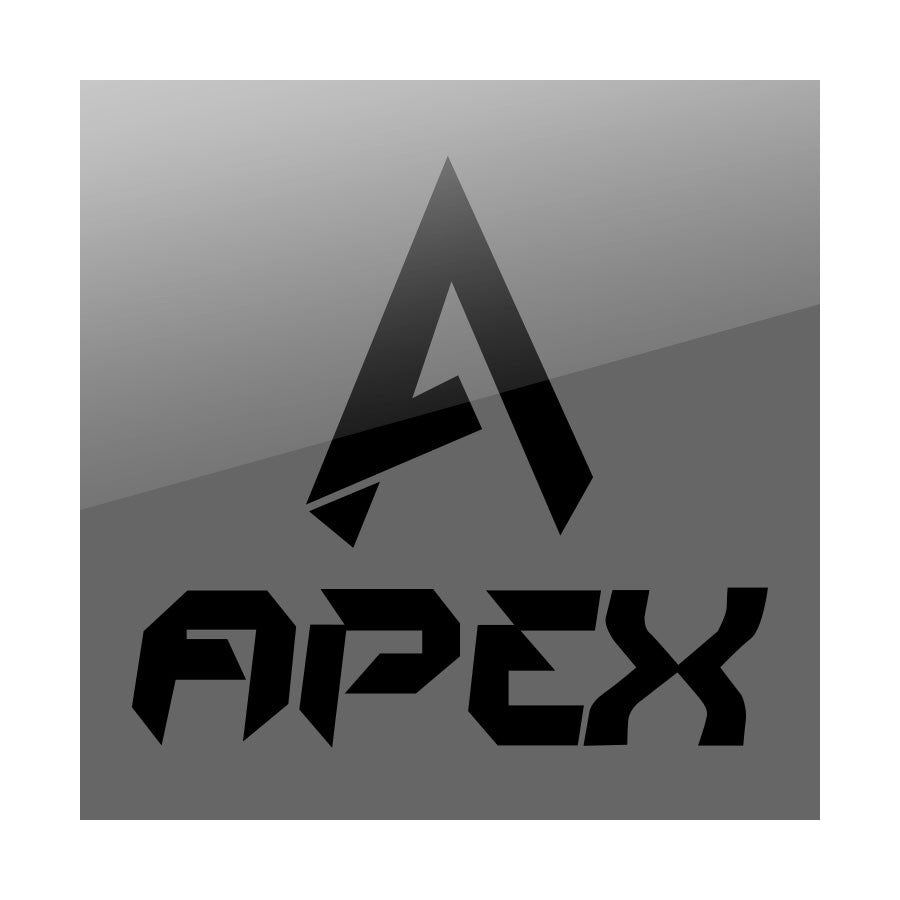 "Apex 9"" Combo Vinyl Sticker - Black"