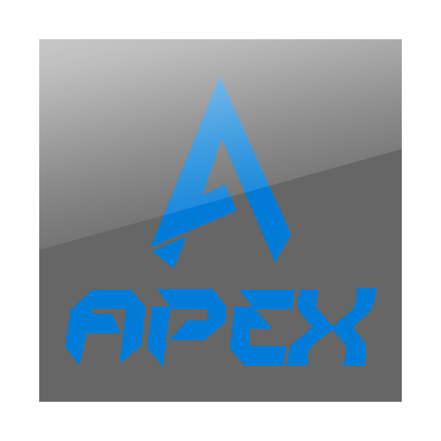 "Apex 9"" Combo Vinyl Sticker - Blue"