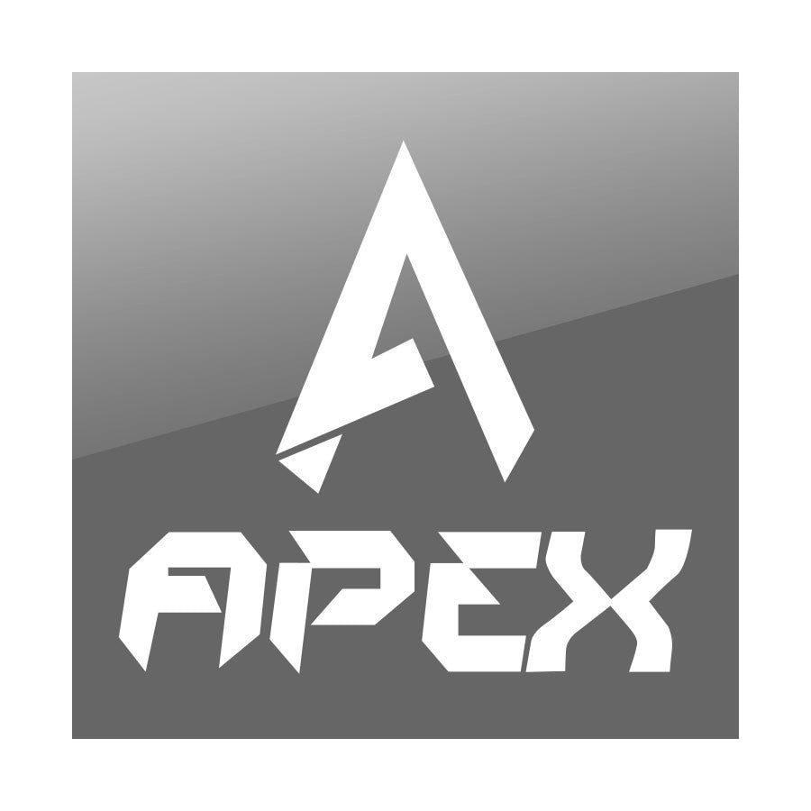 "Apex 9"" Combo Vinyl Sticker - White"