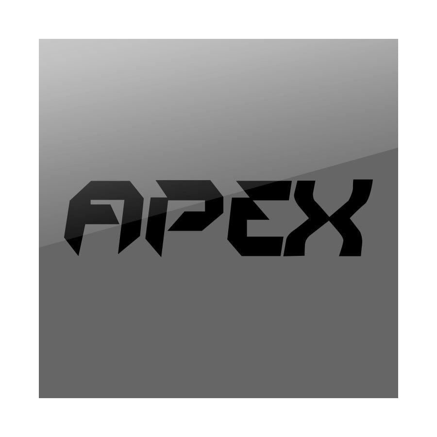 "Apex 11"" Logo Vinyl Sticker - Black"