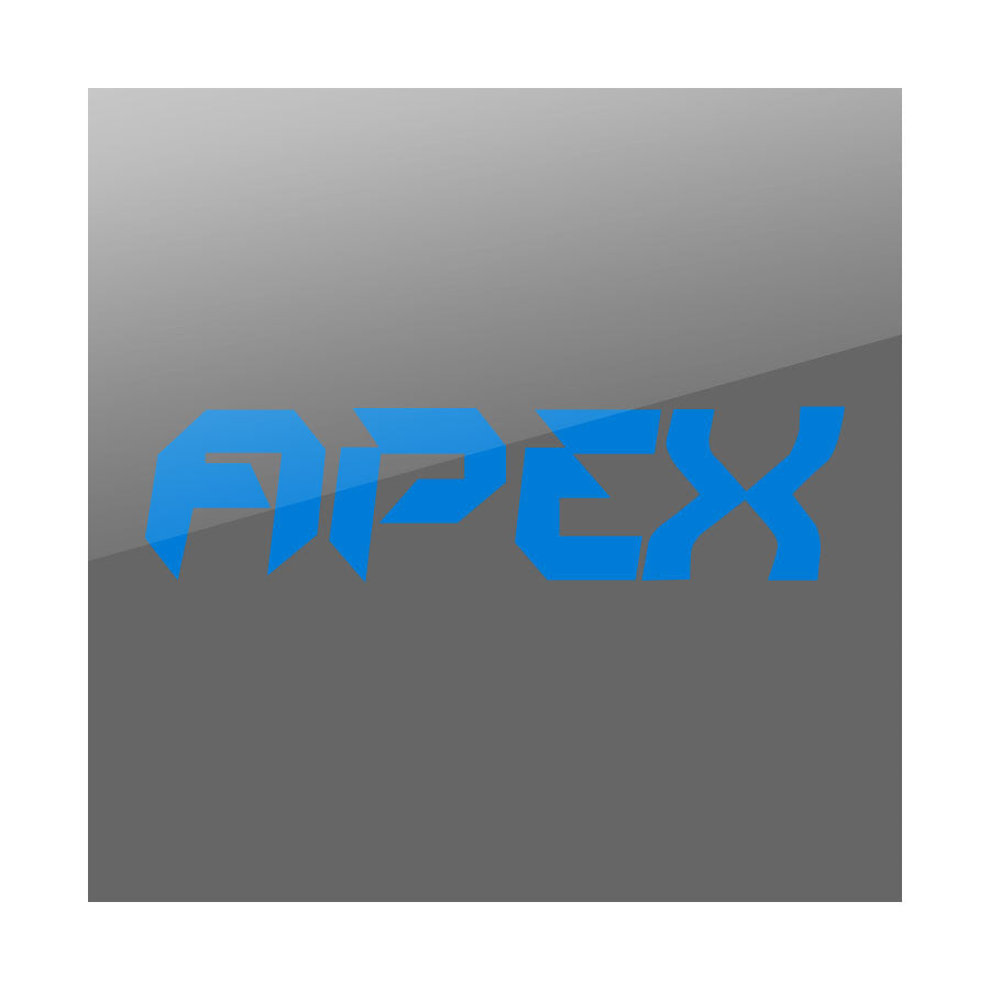 "Apex 11"" Logo Vinyl Sticker - Blue"
