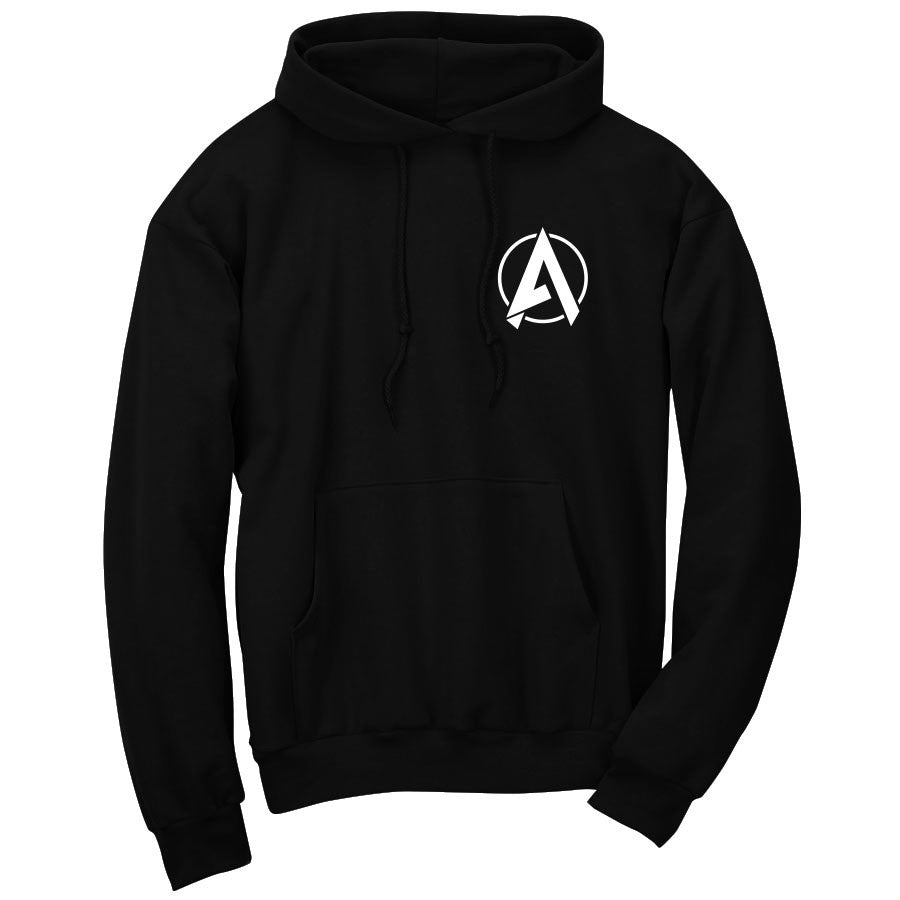Apex Astral Hoodie - Wht on Blk