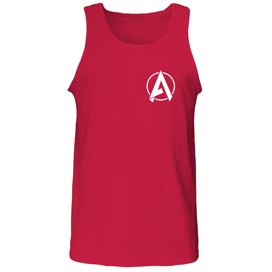 Apex Astral Tank Top - Wht on Red