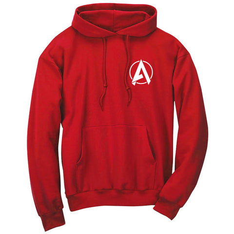 Apex Astral Hoodie - Wht on Red