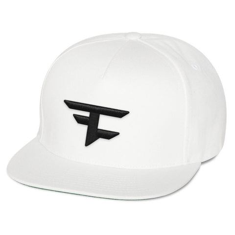 5 Panel Snapback Hat - Blk on Wht