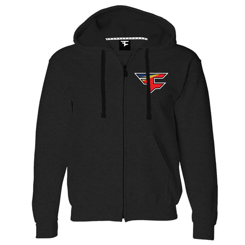 Private Label - 2.0 Heart Zip Up Hoodie - Blk