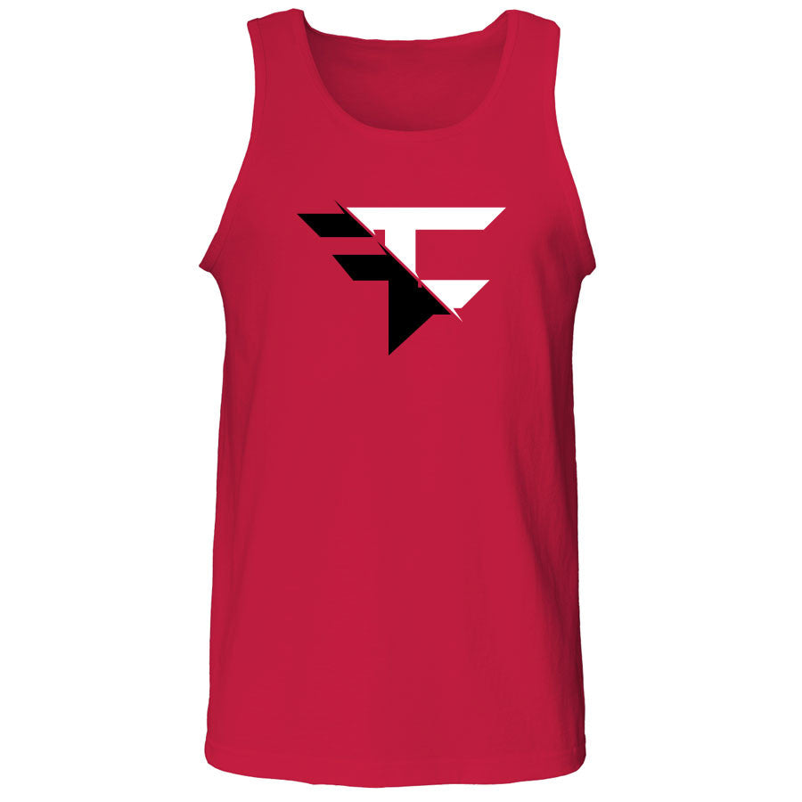 5050 Tank Top - BlkWht on Red