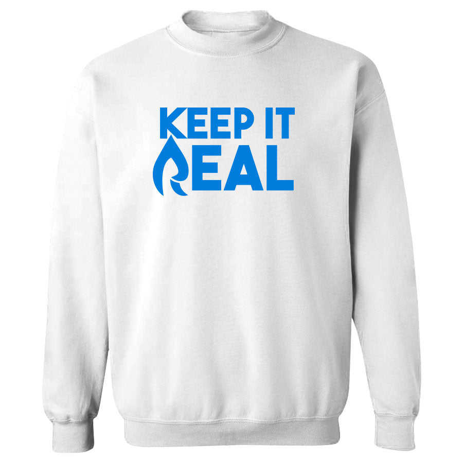 Rain Keep It Real Crewneck - NBlu on Wht