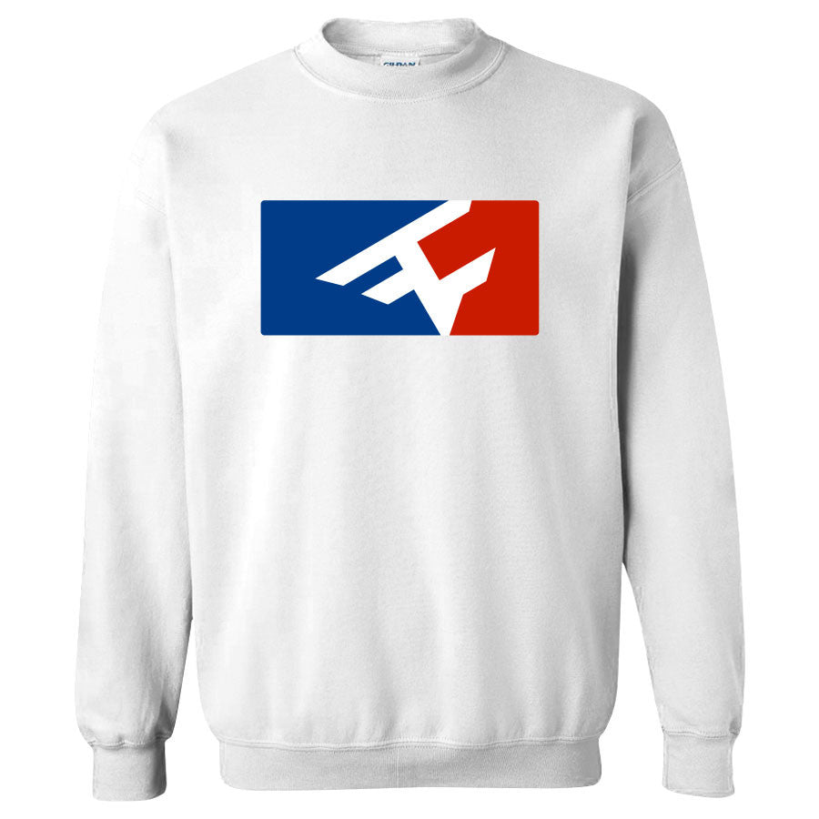 Competitive Crewneck - RWB on Wht
