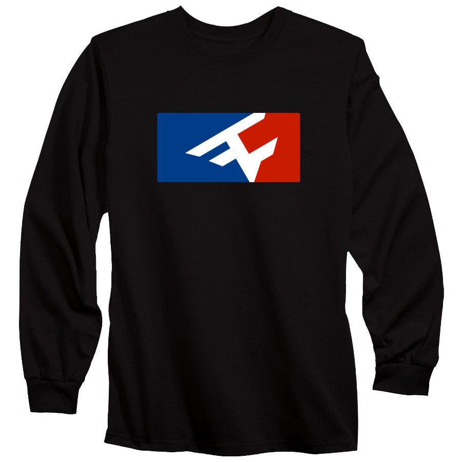 Competitive Long Sleeve Tee - RWB on Blk