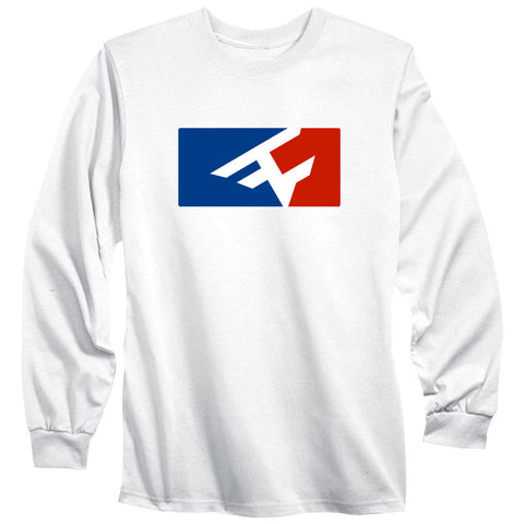 Competitive Long Sleeve Tee - RWB on Wht