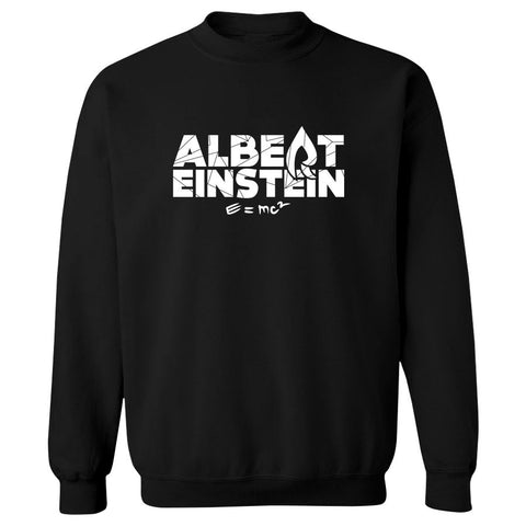 Rain Einstein Crewneck - Wht on Blk