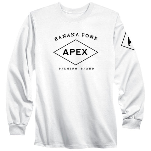 Apex Diamond Long Sleeve - Blk on Wht