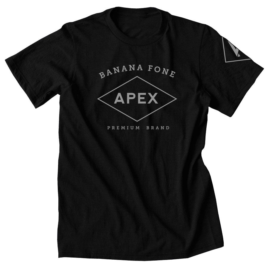 Apex Diamond Short Sleeve - Gry on Blk