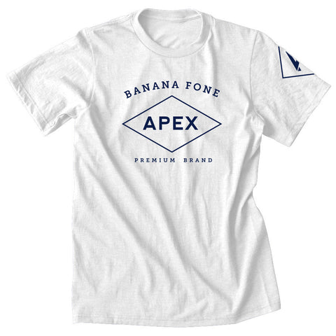 Apex Diamond Short Sleeve - Nvy on Wht