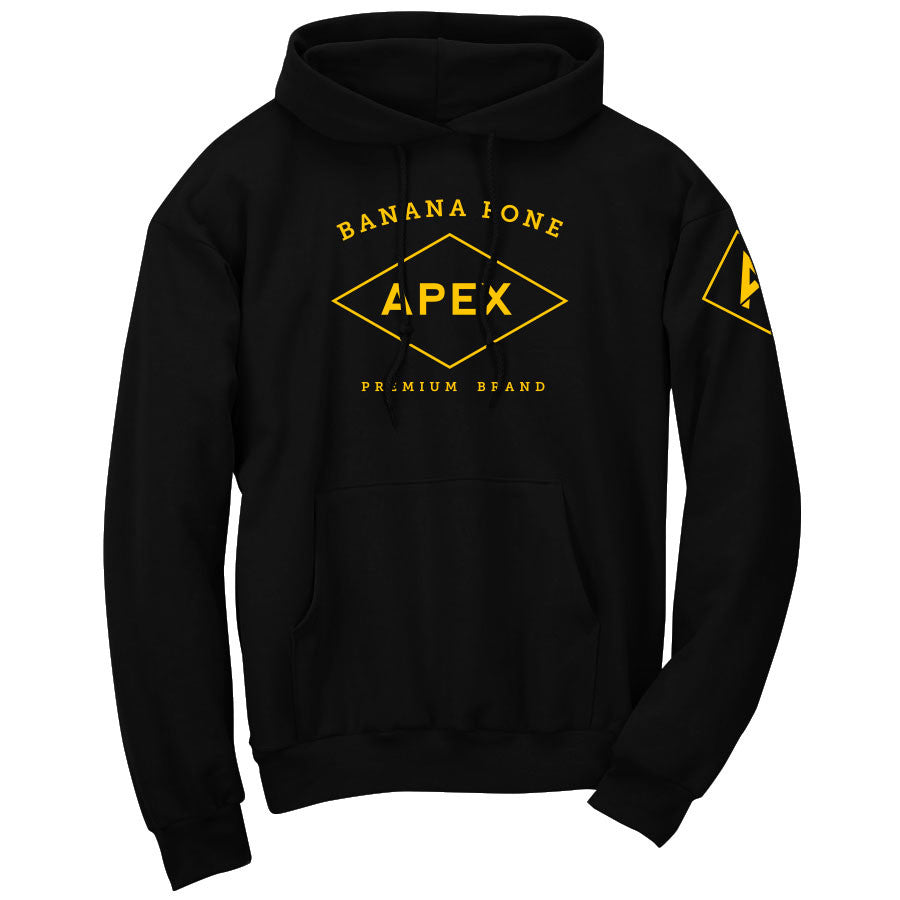 Apex Diamond Hoodie - Yel on Blk