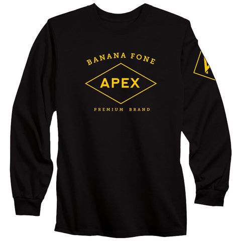 Apex Diamond Long Sleeve - Yel on Blk